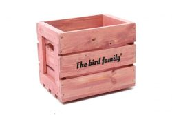 Deco krat The bird family® roze