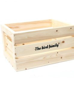 Deco krat groot The bird family® blank
