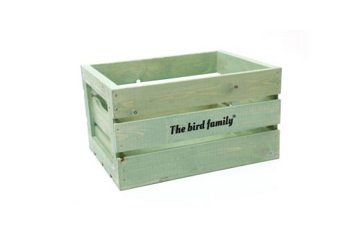 Deco krat groot The bird family® groen