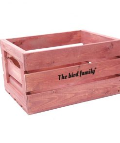 Deco krat groot The bird family® roze